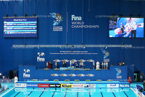 General view, JULY 30, 2015 - Synchronised Swimming : 16th FINA World Championships Kazan 2015 Mixed Duets Free Routine Medal Ceremony at Kazan Arena in Kazan, Russia. (Photo by Yohei Osada/AFLO SPORT)