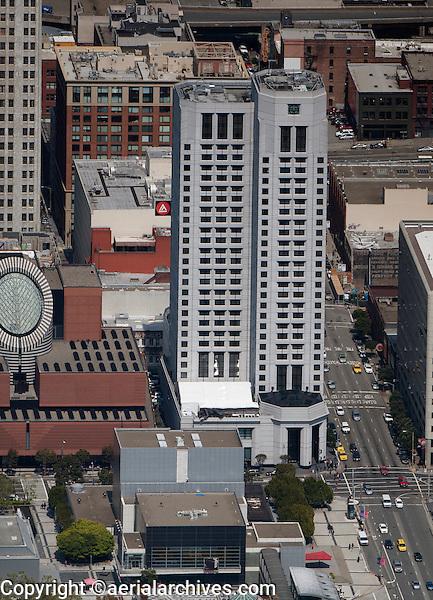 aerial photograph W Hotel SOMA San Francisco, California