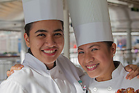 Pastry Chefs serving fresh pastry at the ship