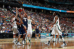 01 APRIL 2012:  Bria Hartley (14) of the University of Connecticut drives to the hoop against Notre Dame during the Division I Women's Final Four Semifinals at the Pepsi Center in Denver, CO.  Notre Dame defeated UCONN 83-75 to advance to the national championship game.  Jamie Schwaberow/NCAA Photos