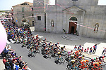 The peloton pass through Ala dei Sardi during Stage 2 of the 100th edition of the Giro d'Italia 2017, running 221km from Olbia to Tortoli, Sardinia, Italy. 6th May 2017.<br /> Picture: Eoin Clarke | Cyclefile<br /> <br /> <br /> All photos usage must carry mandatory copyright credit (&copy; Cyclefile | Eoin Clarke)