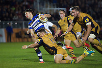 Adam Hastings of Bath United goes on the attack. Aviva A-League match, between Bath United and Bristol United on September 19, 2016 at the Recreation Ground in Bath, England. Photo by: Patrick Khachfe / Onside Images