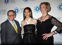NEW YORK, NY-October 27: Harry Leibowitz, Lily Aldridge, Kay Isaacson-Leibowitz at  World of Children Awards 2016 at  583 Park Avenue in New York.October 27, 2016. Credit:RW/MediaPunch