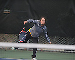 Oxford High's McClellan Davis vs. Alcorn Central in high school tennis action at Avent Park in Oxford, Miss. on Tuesday, February 26, 2013.