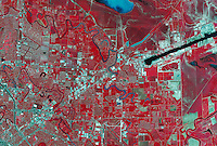 color infrared aerial photo map Brownsville, Texas