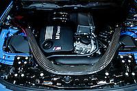 The engineer of a BMW is seen during the International Auto Show 2015 in New York. 04.06.2015. Eduardo MunozAlvarez/VIEWpress.