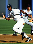 CHICAGO - 1992:  Frank Thomas of the Chicago White Sox runs the bases during an MLB game at Comiskey Park in Chicago, Illinois.  Thomas played for the White Sox from 1990-2005. (Photo by Ron Vesely)