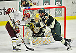12 November 2010: University of Vermont Catamount goaltender Rob Madore, a Junior from Pittsburgh, PA, in action during the first period against the Boston College Eagles at Gutterson Fieldhouse in Burlington, Vermont. The Eagles edged out the Cats 3-2 in the first game of their weekend series. Mandatory Credit: Ed Wolfstein Photo