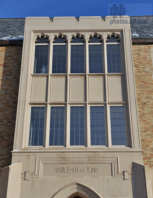 Main entrance to Eck Hall of Law..Photo by Matt Cashore/University of Notre Dame