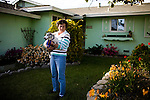 Carol Couts poses for a portrait at her Yuba City, California home April 6, 2009. Couts is awaiting eviction from the home she has owned for over 30 years.