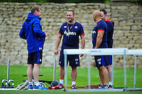 Bath Rugby first team coach Darren Edwards looks on. Rugby in action. Bath Rugby pre-season skills training on June 21, 2016 at Farleigh House in Bath, England. Photo by: Patrick Khachfe / Onside Images