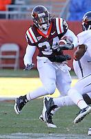 Nov 27, 2010; Charlottesville, VA, USA;  Virginia Tech Hokies running back Ryan Williams (34) during the game at Lane Stadium. Virginia Tech won 37-7. Mandatory Credit: Andrew Shurtleff