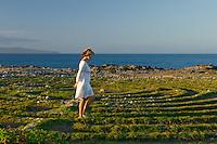 A woman walks the labyrinth in Kapalua, Maui.