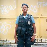 Patrol officer Erika Queriroz, 25<br /> Rapid Response Team<br /> Pacifying Police Unit<br /> Complexo do Caju, Rio de Janeiro, Brazil