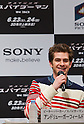 "June 13, 2012, Tokyo, Japan - Actor Andrew Garfield attends the press conference for the film ""The Amazing Spider-Man."" The movie will be released in Japanese theaters on June 30, 2012. (Photo by Christopher Jue/Nippon News)"