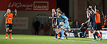 Ross County keeper Michael Fraser appears to collect a passback with his hands but nothing given from ref Willie Collum
