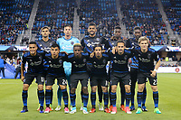 San Jose, CA - Friday April 14, 2017: San Jose Earthquakes Starting Eleven  prior to a Major League Soccer (MLS) match between the San Jose Earthquakes and FC Dallas at Avaya Stadium.