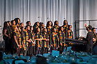 January 23, 2017; The Voices of Faith Gospel Choir perform prior to the Martin Luther King Jr. celebration luncheon, part of Walk the Walk Week. (Photo by Matt Cashore/University of Notre Dame)
