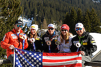 LENZERHEIDE, SWITZERLAND - MARCH 13:  in the finish area of the Audi FIS Alpine Skiing World Cup Finals Super G on March 13, 2014 in Lenzerheide, Switzerland. (Photo by Mitchell Gunn/Getty Images) *** Local Caption ***