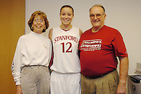 17 December 2005: Locker sponsors with Christy Titchenal taken after Stanford's 83-53 win over Rice at Maples Pavilion in Stanford, CA.