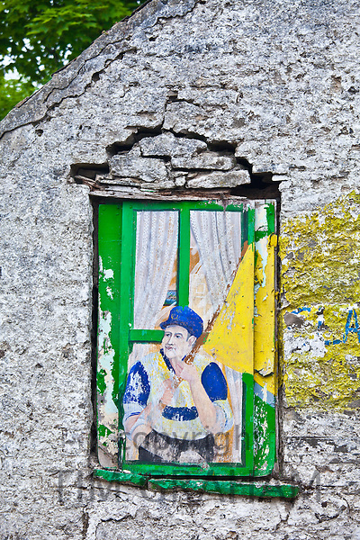 Wall mural depicting the troubles in Ireland, Ennistymon also known as Ennistimon, County Clare, West of Ireland