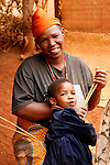 Africa, Tanzania, Karratu. Iraqw mother and child in Tanzania.