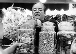 Hubert H. Humphrey gets his hand stuck in the candy jar during campaign for President of the USA, Fine Art Photography by Ron Bennett, Fine Art, Fine Art photography, Art Photography, Copyright RonBennettPhotography.com ©