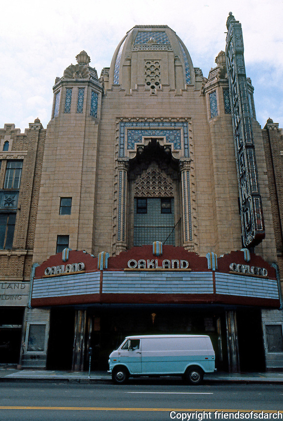 Movie Theatre: Oakland, CA. Fox Oakland Theatre, 1815 Telegraph Ave. , 1928. M.I. Diggs, Weeks & Day. Note: empty in 1988. Photo '78.