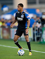 Ryan Johnson of Earthquakes in action during the game against Real Salt Lake at Buck Shaw Stadium in Santa Clara, California on March 27th, 2010.   Real Salt Lake defeated San Jose Earthquakes, 3-0.