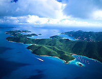 Leinster Bay to East End Aerial<br /> St John, US Virgin Islands