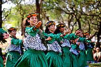 Halau hula perform at Ka Hula Piko Festival, Moloka'i