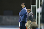08 October 2013: UNC head coach Carlos Somoano. The University of North Carolina Tar Heels hosted the Clemson University Tigers at Fetzer Field in Chapel Hill, NC in a 2013 NCAA Division I Men's Soccer match. Clemson won the game 2-1 in overtime.