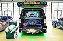 June 2, 2012, Tokyo, Japan - The inside car shows a Vocaloid?s movie and other accesories at the Moe Culture Festival 2012.  The Anime and Cosplay exhibition &quot;Moe Culture Festival 2012&quot; from June 2nd to 3rd at Otaku Sangyou Plaza Pio..