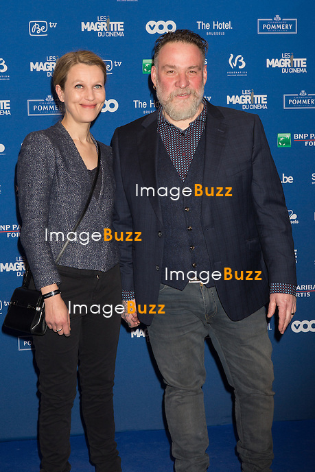 Elise Ancion &amp; Bouli Lanners : 7&egrave;me C&eacute;r&eacute;monie des Magritte du Cin&eacute;ma, qui r&eacute;compense le septi&egrave;me art belge, au Square, &agrave; Bruxelles.<br /> 7th edition of the Magritte du Cinema awards ceremony.<br /> Belgium, Brussels, 4 February 2017
