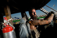 Demolition Derby, Antelope Valley Fair, Lancaster, Southern California, California, United States, North America. September 2008, ©Stephen Blake Farrington