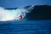 Lisa Andersen (USA) . Gallas Pro 2000, Teahupoo, Tahiti, French Polynesia..Photo:  joliphotos.com