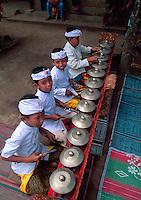 Children's Gamelan Orchestra at school cultural performance, Peliatan, Bali, Indonesia