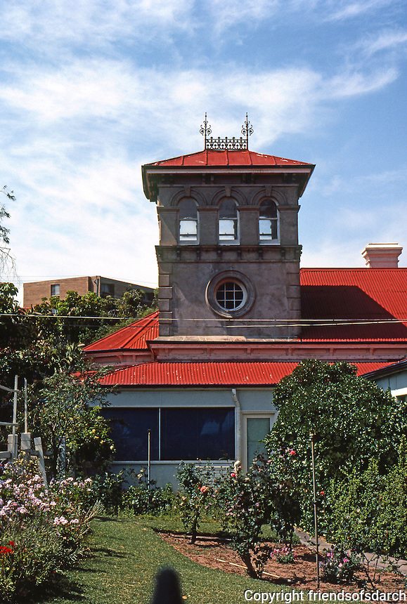 Fremantle: No. 61 Ellen St.--Italianate tower. Photo '82.