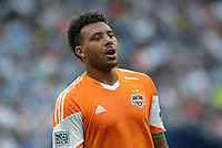 Giles Barnes (23) midfield Houston Dynamo ,.Sporting Kansas City and Houston Dynamo played to a 1-1 tie at Sporting Park, Kansas City, Kansas.