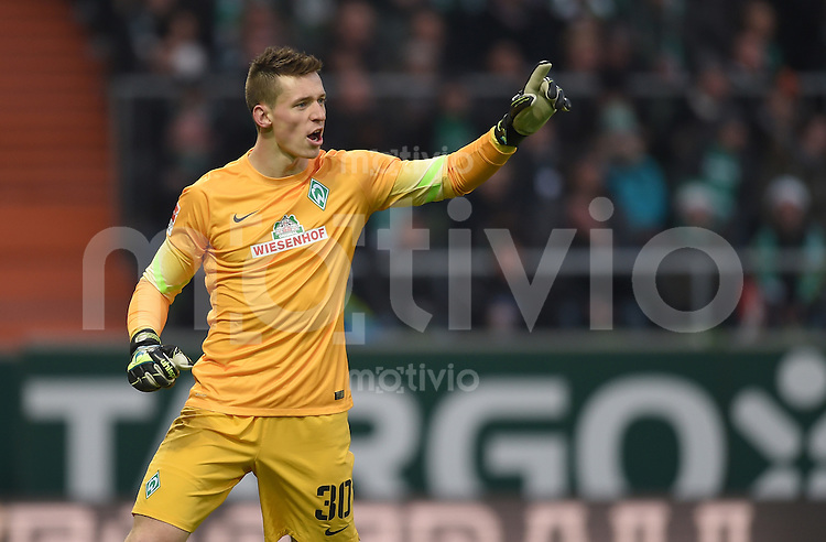 FUSSBALL   1. BUNDESLIGA   SAISON 2014/2015   15. SPIELTAG SV Werder Bremen - Hannover 96                         13.12.2014 Torwart Richard Strebinger (SV Werder Bremen)