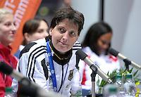 European Championships Fencing 2010 / Fecht Europameisterschaft 2010 in Leipzig - Competition Championat d'europe - im Bild: Imke Duplitzer (GER, new European Champion women epee) during press conference . Foto: Norman Rembarz..Norman Rembarz , Autorennummer 41043728 , Augustenstr. 2, 04317 Leipzig, Tel.: 01794887569, Hypovereinsbank: BLZ: 86020086, KN: 357889472, St.Nr.: 231/261/06432 - Jegliche kommerzielle Nutzung ist honorar- und mehrwertsteuerpflichtig! Persönlichkeitsrechte sind zu wahren. Es wird keine Haftung übernommen bei Verletzung von Rechten Dritter. Autoren-Nennung gem. §13 UrhGes. wird verlangt. Weitergabe an Dritte nur nach  vorheriger Absprache..