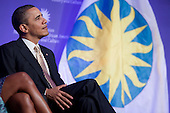 United States President Barack Obama attends the groundbreaking of the Smithsonian National Museum of African American History and Culture in Washington, D.C. on Wednesday, February 22, 2012. The museum is scheduled to open in 2015 and will be the only national museum devoted exclusively to the documentation of African American life, art, history and culture. .Credit: Andrew Harrer / Pool via CNP