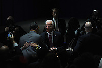 Vice-President Joe Biden takes his seat before President Barack Obama's farewell address at McCormick Place in Chicago, Illinois on January 10, 2017.