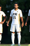 28 August 2015: FIU's Nicholas Midttun. The University of North Carolina Tar Heels hosted the Florida International University Panthers at Fetzer Field in Chapel Hill, NC in a 2015 NCAA Division I Men's Soccer match. North Carolina won the game 1-0