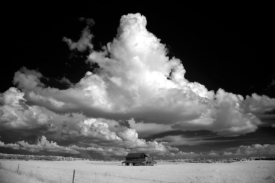 Large cloud over small farm Louisa County, VA.
