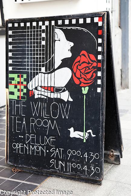 The Willow Tea Room by Mackintosh on Sauchiehall Street, Glasgow, Scotland