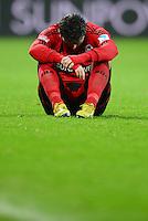 FUSSBALL   1. BUNDESLIGA   SAISON 2012/2013    20. SPIELTAG Bayer 04 Leverkusen - Borussia Dortmund                  03.02.2013 Sebastian Boenisch (Bayer 04 Leverkusen)  ist nach dem Abpfiff enttaeuscht