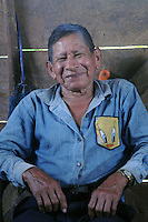 My guide Rawje's grandfather in small jungle village on the Rio Napo in eastern Ecuador.