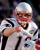 New England Patriots quarterback Tom Brady (12) calls signals in the second quarter against the Washington Redskins at FedEx Field in Landover, Maryland on Sunday December 11, 2011.  The Patriots won the game 34 - 27..Credit: Ron Sachs / CNP
