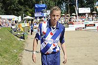 FIERLJEPPEN: GRIJPSKERK: 27-08-2016, Nederlands Kampioenschap Fierljeppen/Polsstokverspringen, Freark Kramer, ©foto Martin de Jong